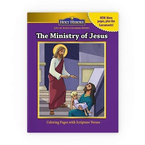 Holy Heroes Coloring Book: The Ministry of Jesus - A Lost Sheep Catholic Store