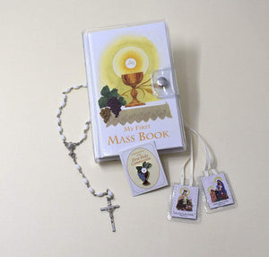 First Mass Book (My First Eucharist) Vinyl Set - Girls version - A Lost Sheep Catholic Store