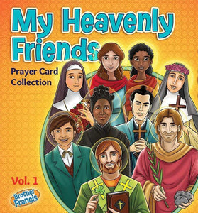 My Heavenly Friends Prayer Card Collection - Set of 70 - A Lost Sheep Catholic Store