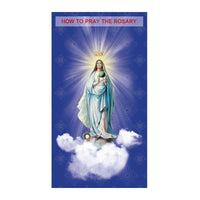 Pray the Rosary Trifold Card - A Lost Sheep Catholic Store