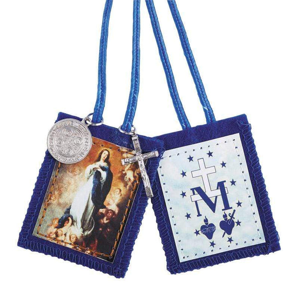 Immaculate Conception Scapular with Medals - A Lost Sheep Catholic Store