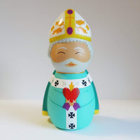 Saint Augustine of Hippo Shining Light Doll - A Lost Sheep Catholic Store