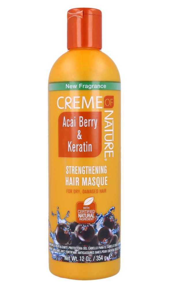 Acai Berry & Keratin Strengthening Hair Masque 354g|Candour Beauty