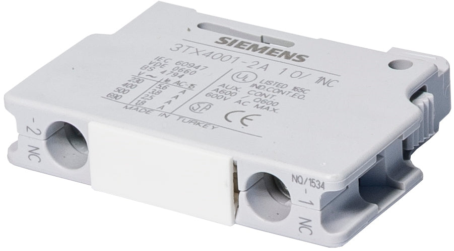 Siemens World Series  Auxiliary Contact Block