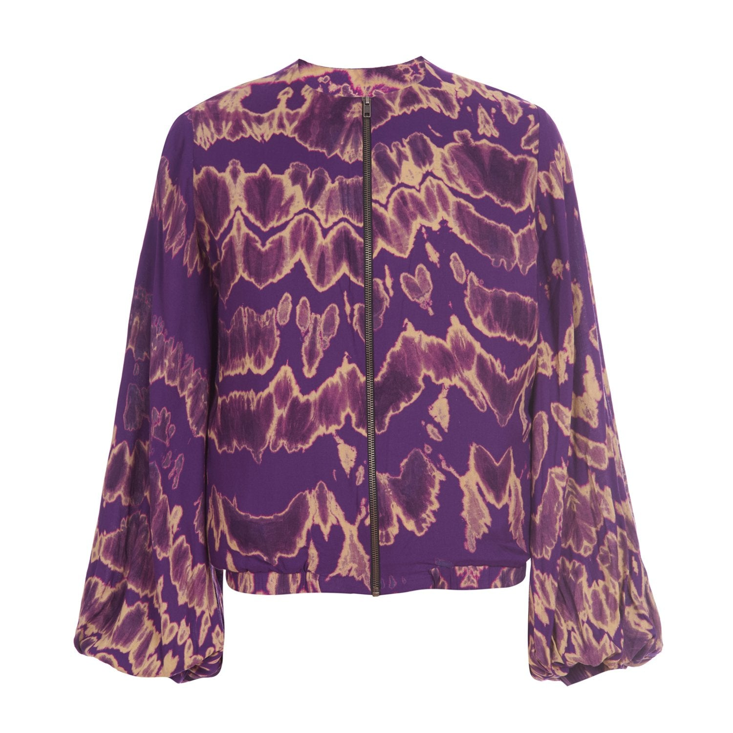 Purple Tie Dye Bomber Jacket