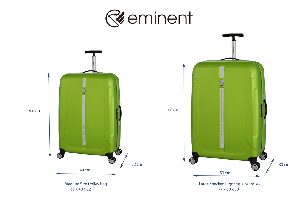 medium size trolley bag and large checked luggage size trolley bag