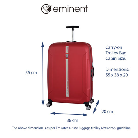 cabin size hand bag carry-on luggage trolley