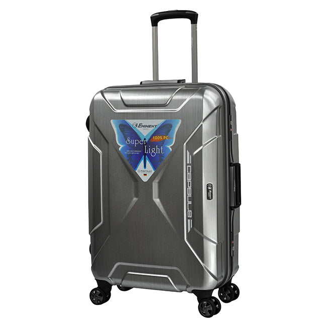 Eminent Checked Travel Luggage Bag 4-Twin 360° Wheel Trolley (E9F7-24)