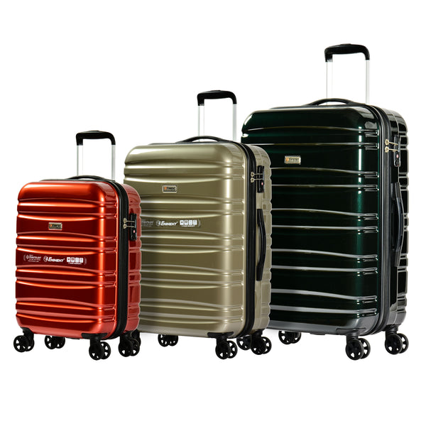 Eminent Luggage Set of 3 Bags 4-Twin 360° Wheel Trolley (KG08-3)