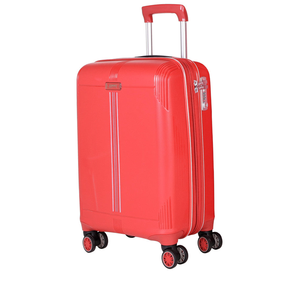 Checked Luggage trolley bag by Summit (PP807T4-24) - buyluggageonline