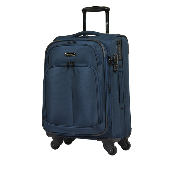 Eminent branded Soft checked luggage size Trolley bag (V481A-25) - buyluggageonline