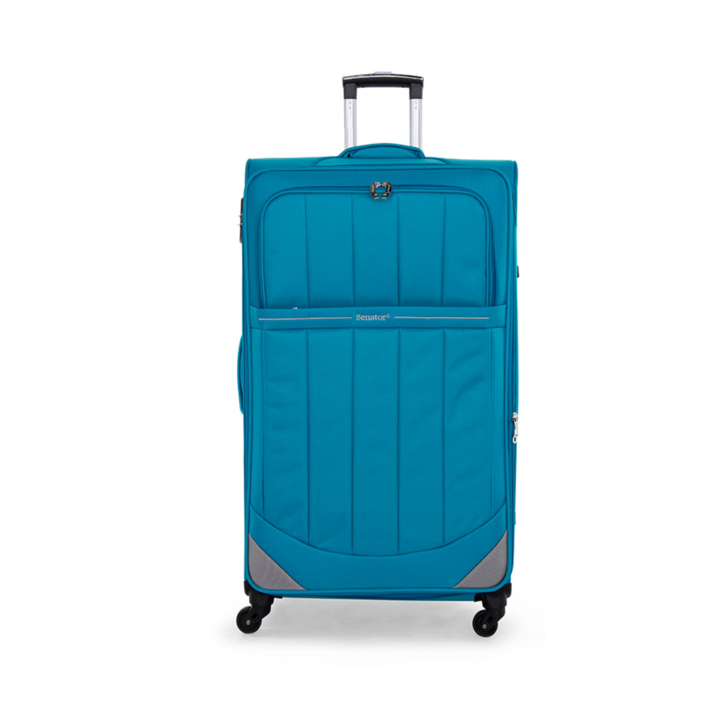 Senator hand carry bag softside fashionable trolley luggage with combination lock and 4 wheels (LL051-20) - buyluggageonline