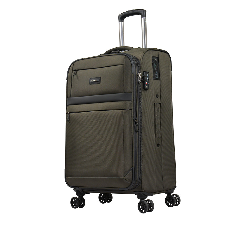 "Eminent 25""checked baggage size Soft 1680D Nylon Spinner trolley (S0550-25) - buyluggageonline"