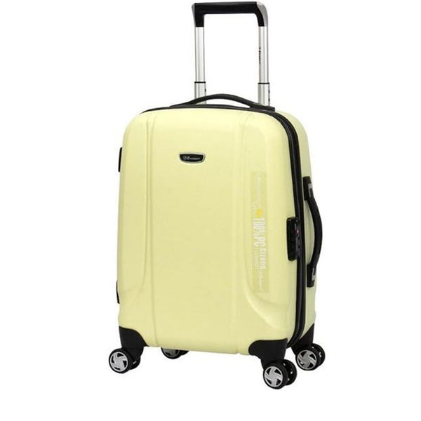24 Inch Eminent checked luggage  PC Emboss 732 Spinner Trolley bag (KF31-24) - buyluggageonline