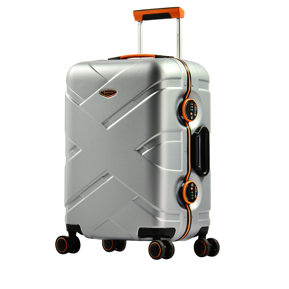 "Eminent 24"" PC Matt nile 4 twin wheels 20 kg luggage size trolley (E9PO-24) - buyluggageonline"