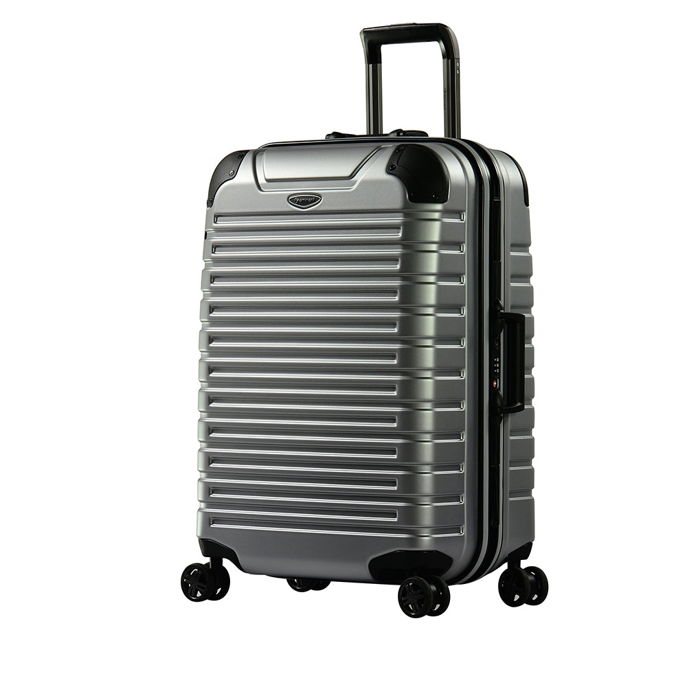 "Eminent 24"" Matt PC Twin four wheels checked baggage trolley (E9Q3M-24) - buyluggageonline"