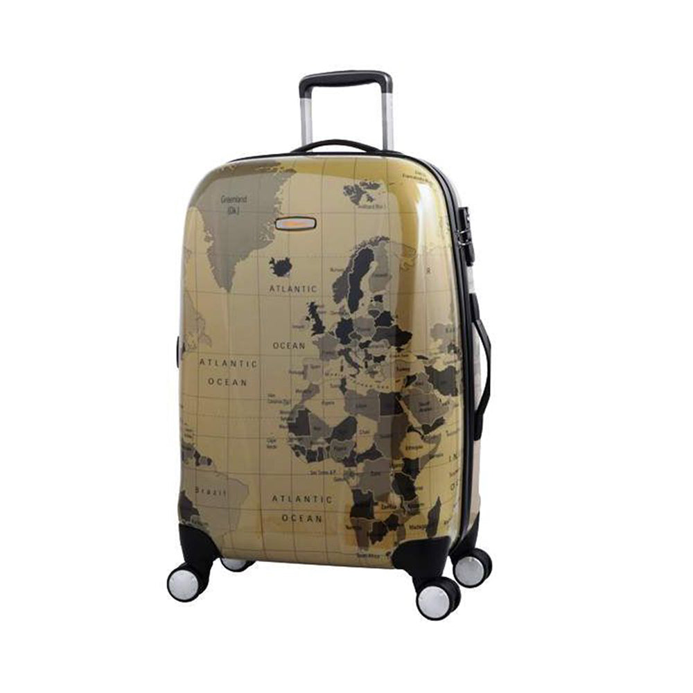 Eminent 20 inch Map print PC Spinner hand luggage trolley bag (KD71M-Map-20) - buyluggageonline