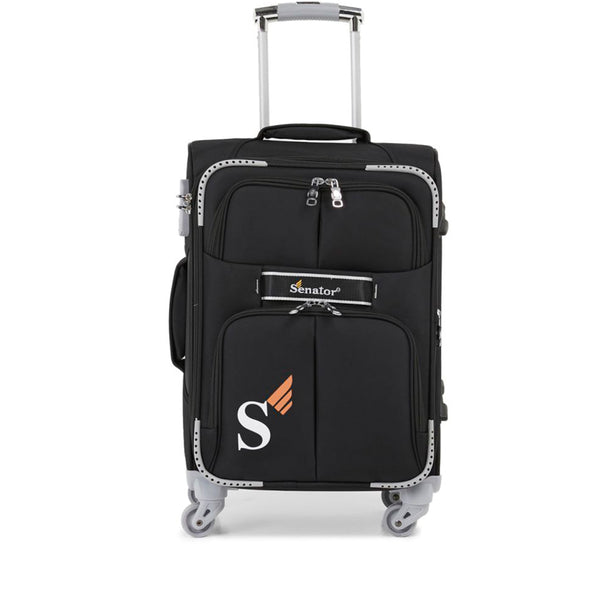 Senator cabin size luggage soft 4 wheels trolley case (LL003-20) - buyluggageonline
