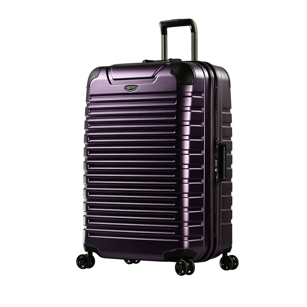 "Eminent 28"" Matt PC Twin four wheels checked luggage trolley (E9Q3M-28) - buyluggageonline"