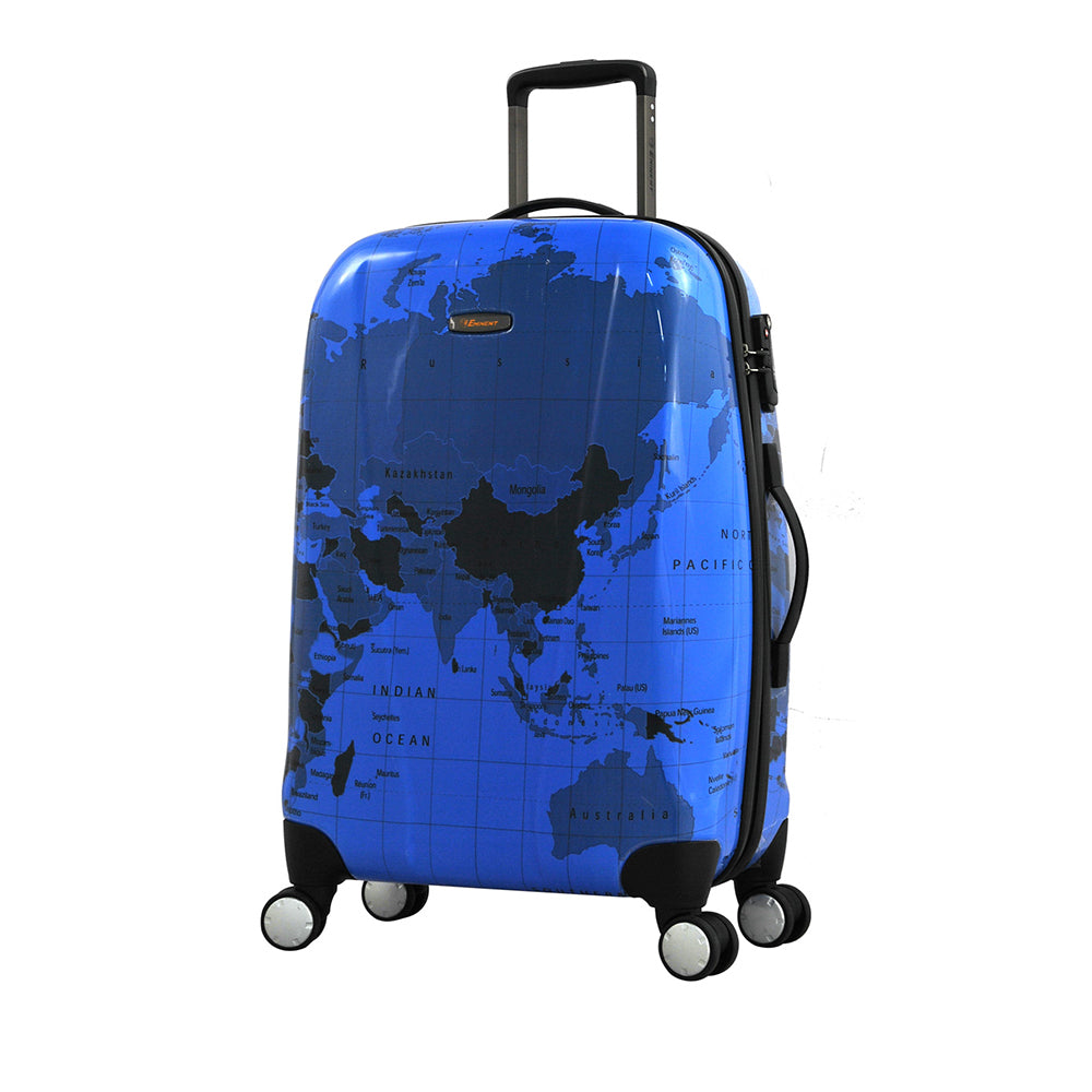 Eminent 25 inch medium size Map print PC Spinner Trolley (KD71M-Map-25) - buyluggageonline