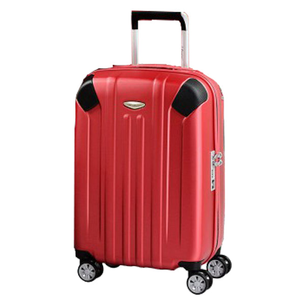 "Eminent Checked Travel Luggage 24"" PC Matt 4 twin wheel trolley (KG35-24)"