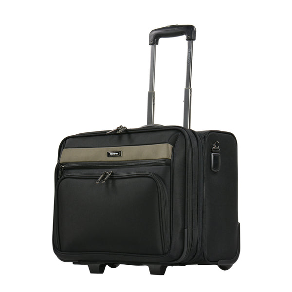 Eminent luggage 18 Inch Safe Zipper Pilot Case with Trolley - V135-SZ-18 BK - buyluggageonline