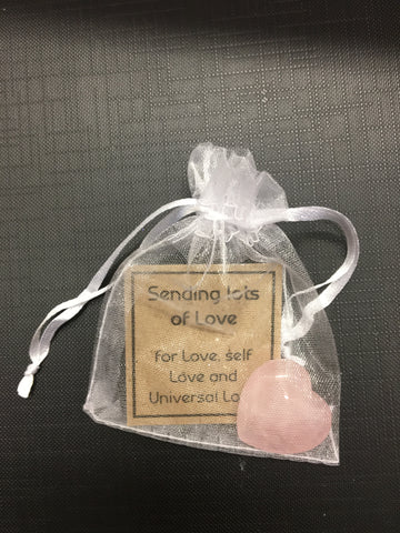 Rose Quartz Love Heart