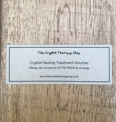 Gift Voucher for Crystal Healing Treatment