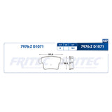 balata para freno de disco fritec formula azul trasera para ford five hundred 2005  part: m-7976-z