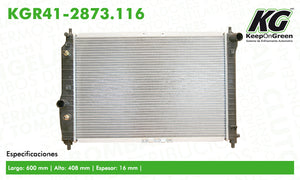 Radiador GM AVEO L4 1.6L 2007-2008  part: KGR41-2873.116