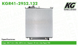 Radiador FD EXPLORER V6 4.0L 2007-2010  part: KGR41-2952.132