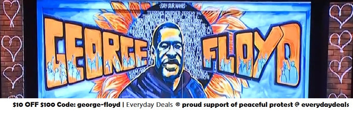 George Floyd *proud support of peaceful protest