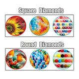 Colorful Abstract Galaxy 5D Diamond Painting Kit Full AB Drills Kits for Adults Kids DIY Mosaic Cross Stitch Pattern Handmade Embroidery Kits Wall Décor