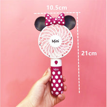 Load image into Gallery viewer, Mickey & Mini Creative Outdoor portable cartoon cute USB fan Student mini handheld fan with lithium battery rechargeable