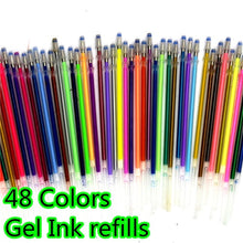 Load image into Gallery viewer, 12/24/36/48 Colors Gel Pens Set & Refills School Stationery Pastel Neon Glitter Sketch Pencil Case Drawing Art Marker Gift