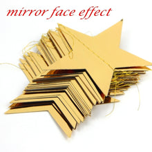 Load image into Gallery viewer, 1pc Pack of 3.8M Foil Gold Star Garland Happy New Year Decoration Merry Christmas Tree Ornaments Christmas Decoration For Home