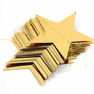 1pc Pack of 3.8M Foil Gold Star Garland Happy New Year Decoration Merry Christmas Tree Ornaments Christmas Decoration For Home