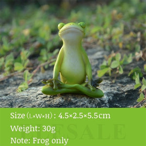 Creative Cute Resin Rural Frog Statue Outdoor Frogs Sculpture For Home Desk Garden Store Decorative Decor Ornament Dropshipping