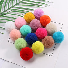 Load image into Gallery viewer, Multi Size Pom 15mm 20mm 30mm 40mm Soft Pompones Fluffy Plush Crafts DIY Pom Poms Ball Furball Home Decor Scarf Sewing Supplies
