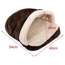Load image into Gallery viewer, Pet Soft Dog Cat Bed House Winter Warming Nest Mat For Small Dogs Sleeping Bag Chihuahua Teddy Kennels Fast shipping