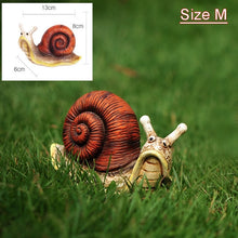 Load image into Gallery viewer, Cute Resin Snail Statue Outdoor Garden Store Bonsai Decorative Animal Sculpture For Home Office Desk Garden Decor Ornament