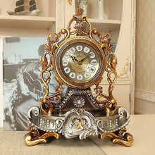 Load image into Gallery viewer, New Home Decoration Table Clock European Resin Desk Clock Stand Old Desktop Clock Table Watch Royalty Living Room