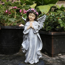 Load image into Gallery viewer, Outdoor Home Small Angel Fairy Sculpture Resin Ornaments Courtyard Desktop Figurines Accessories Art Character Garden Decoration