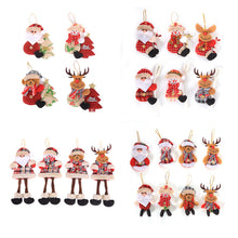 Load image into Gallery viewer, Santa Claus Snowman Rudolf Doll Ornaments Christmas Decorations for Home Noel Decor