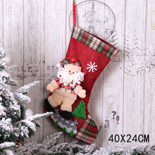 Load image into Gallery viewer, Christmas Stocking Gifts Bag Christmas Decorations for Home Socks Natal Tree Decoration Noel Santa