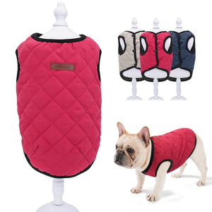 Chihuahua French Bulldog Clothes Dog Jacket Vest Winter Clothes Pet Puppy Coat Clothing for Small Medium Dogs Yorkie Red XS-2XL