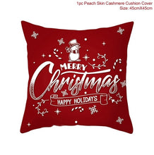 Load image into Gallery viewer, Christmas 2021 Red Linen Table Runner Merry Christmas Decoration For Home Table Christmas Decor Happy New Year