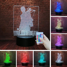 Load image into Gallery viewer, 3D LED TV Drama The Walking Dead Action Figure Rick Daryl Dixon Cool Night Light 7 Color Change Lamp Boys Man Fans Xmas Gifts