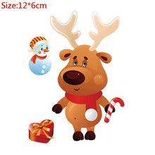 Load image into Gallery viewer, Christmas Window Stickers Santa Claus Snowman Elk Sticker Merry Christmas Decorations for Home Navidad 2021 Happy New Year