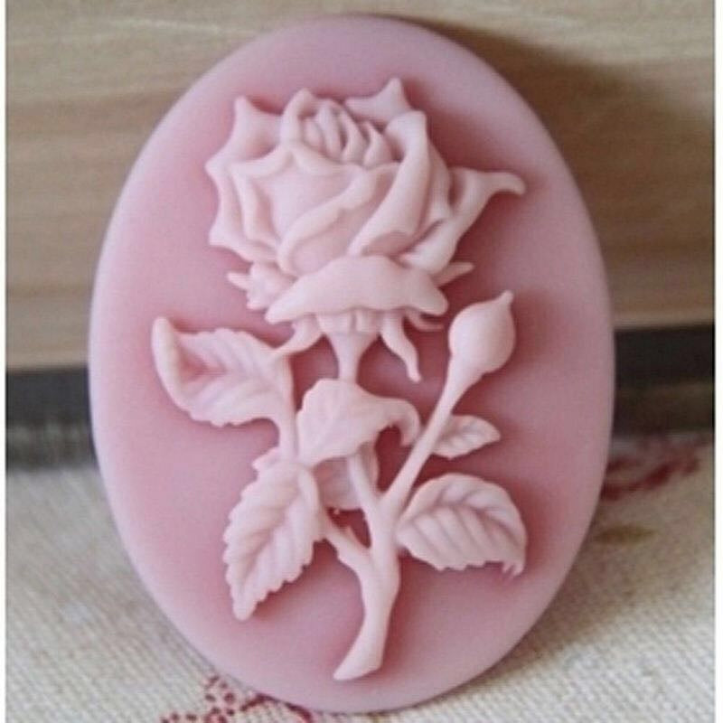 3D Cake Baking Mold Mini Rose Flower Silicone Soap Mold DIY Aroma Candle Decorating Tools Sweet Candy Chocolate Mould